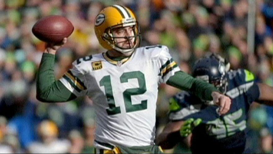 Seattle Seahawks und New England Patriots im Super Bowl