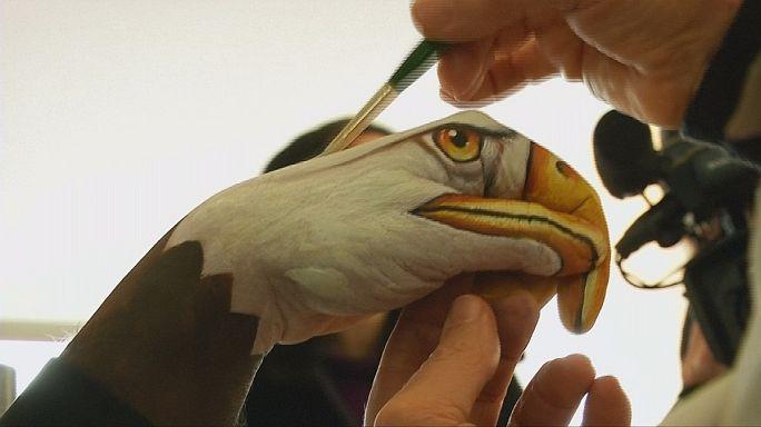 """Body painting pour """"donner un coup de main"""" aux animaux"""