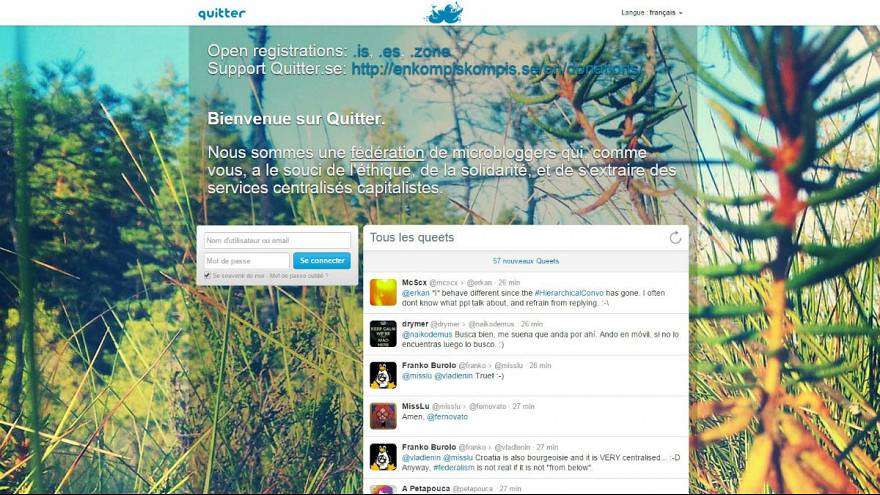 'Quitter' : une alternative anticapitaliste à Twitter