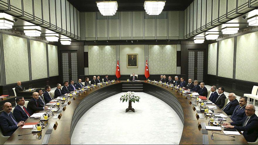 Le président turc de retour au conseil des ministres