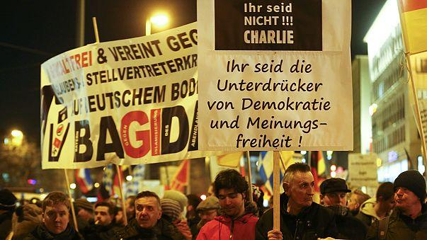 A bevándorlásellenes Pegida ellen tüntettek Németországban