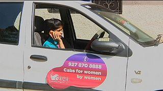 Такси в Индии: только для женщин