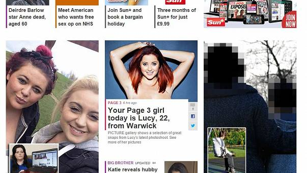 The Sun newspaper drops topless models from Page 3