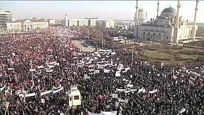 "Chechnya: Hundreds of thousands march against Charlie Hebdo ""immoral"" cartoons – nocomment"