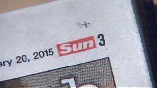 Sun acaba com seios na página três