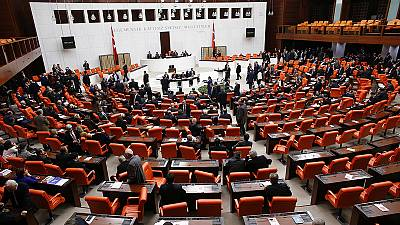 Turkey's parliament rejects sending four former ministers to face corruption trial