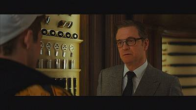 Colin Firth is the besuited gentleman spy in 'Kingsman: The Secret Service'