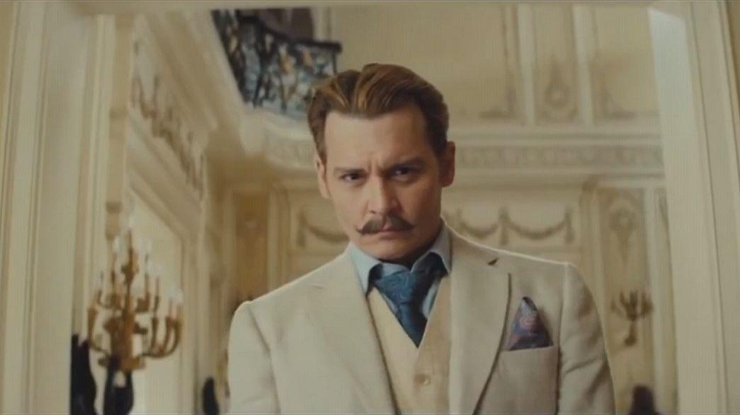 """Johnny Depp, un excéntrico marchante de arte en """"Mortdecai"""""""