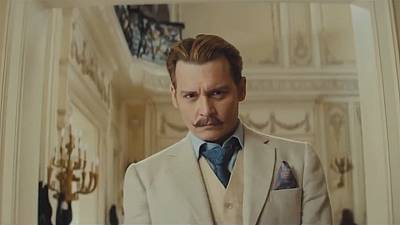 Johnny Depp's all fun as a dodgy dealer in art comedy 'Mortdecai'