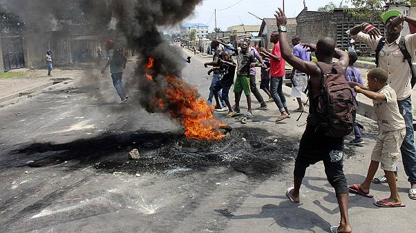 Third day of unrest in DR Congo as rights group says over 40 people have died