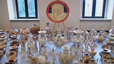 Police in Italy reveal recovered antiquities worth a record 50 million euros