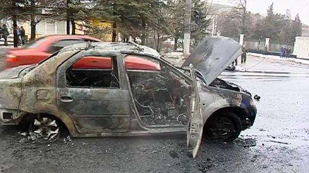 Mueren varios pasajeros de un trolebús en un bombardeo en Donetsk
