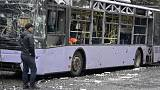 قصف حافلة في دونيتسك  شرق أوكرانيا يخلف عشرات القتلى