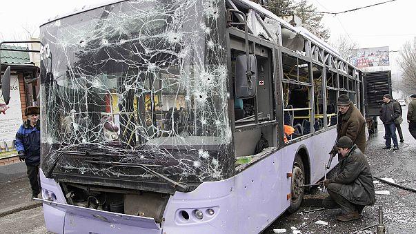 """Tir meurtrier à Donetsk : un crime """"commis par les terroristes russes"""""""