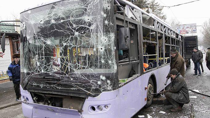 EBESZ-vizsgálatot követel Moszkva a második donyecki busztámadás után