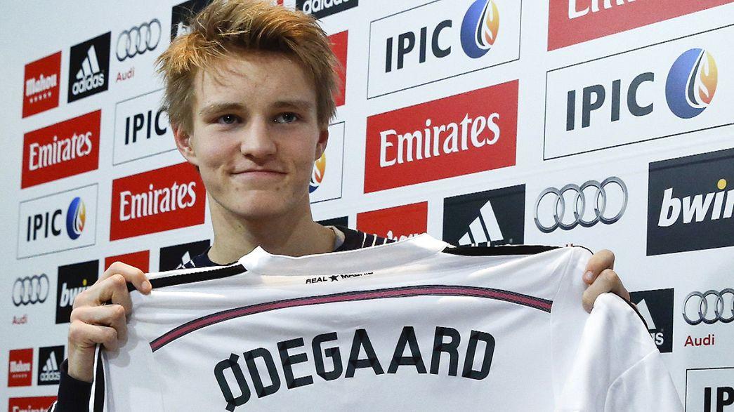 Real Madrid get their teenager as Odegaard signs at 16