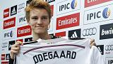 Real Madrid get their teenager as Odegaard signs at 16