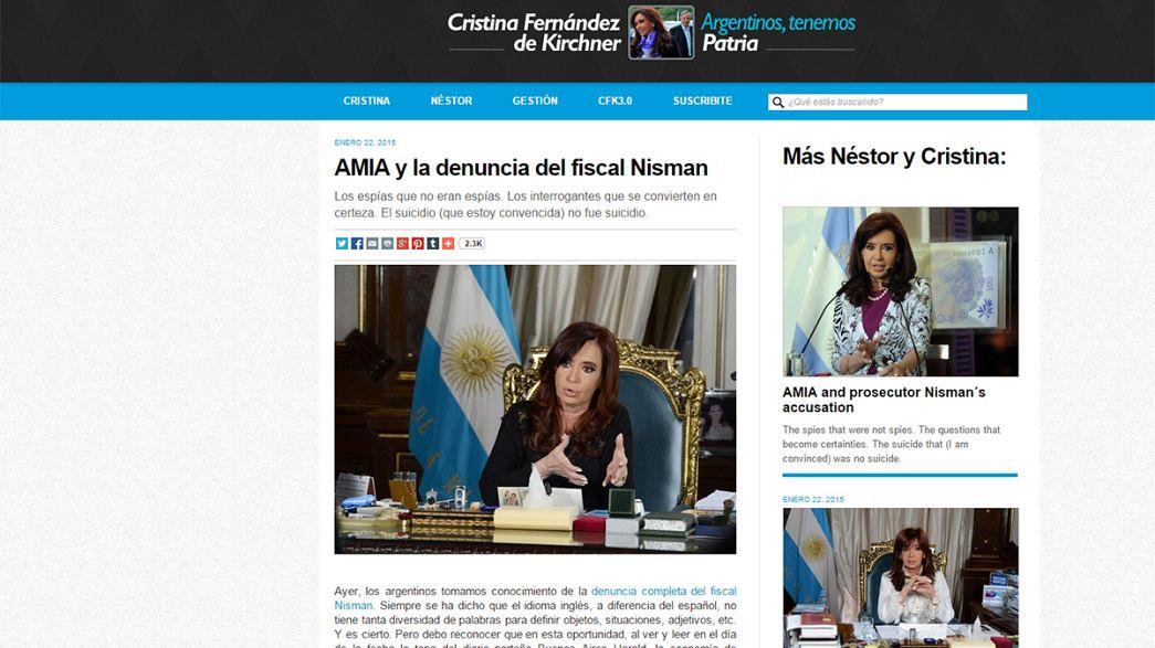 رئيسة الارجنتين تشكك في فرضية انتحار المدعي العام نيسمان