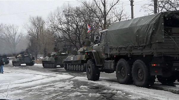 Offensive der pro-russischen Separatisten im Osten der Ukraine
