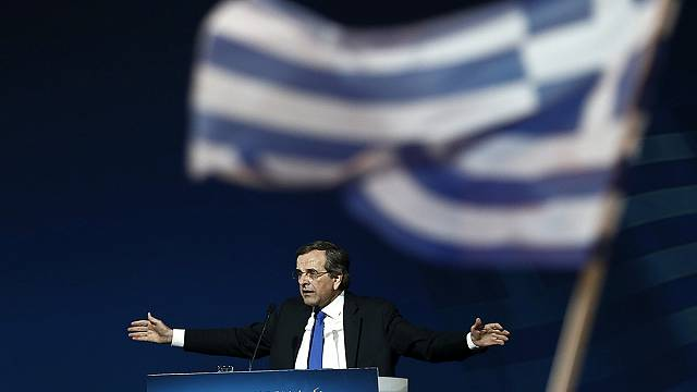 Greek election: Samaras makes final plea to voters, as polls show Syriza lead