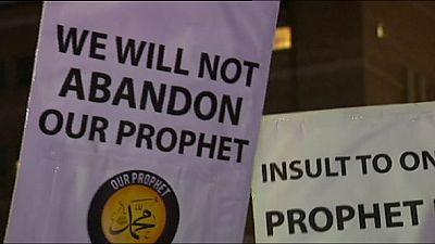Manifestación musulmana en Sidney contra las caricaturas de Mahoma en Charlie Hebdo