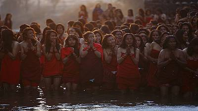 Devotees take a dip to mark Hindu festival in Nepal