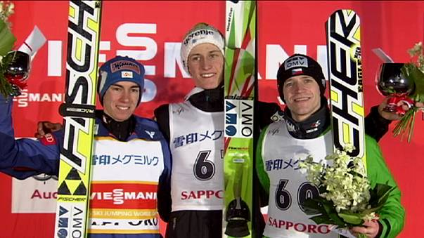 Prevc fliegt beim Weltcup in Sapporo zum ersten Sieg