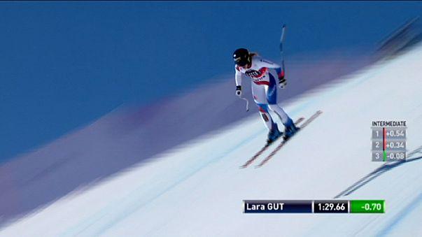 Sci alpino: vittoria in casa per Lara Gut nella discesa a St Moritz