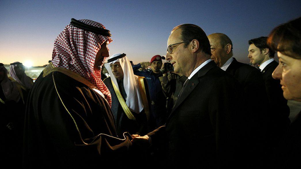 Kondolenzbesuche in Saudi Arabien: Könige und Staatschefs treffen neue Herrscher in Riad