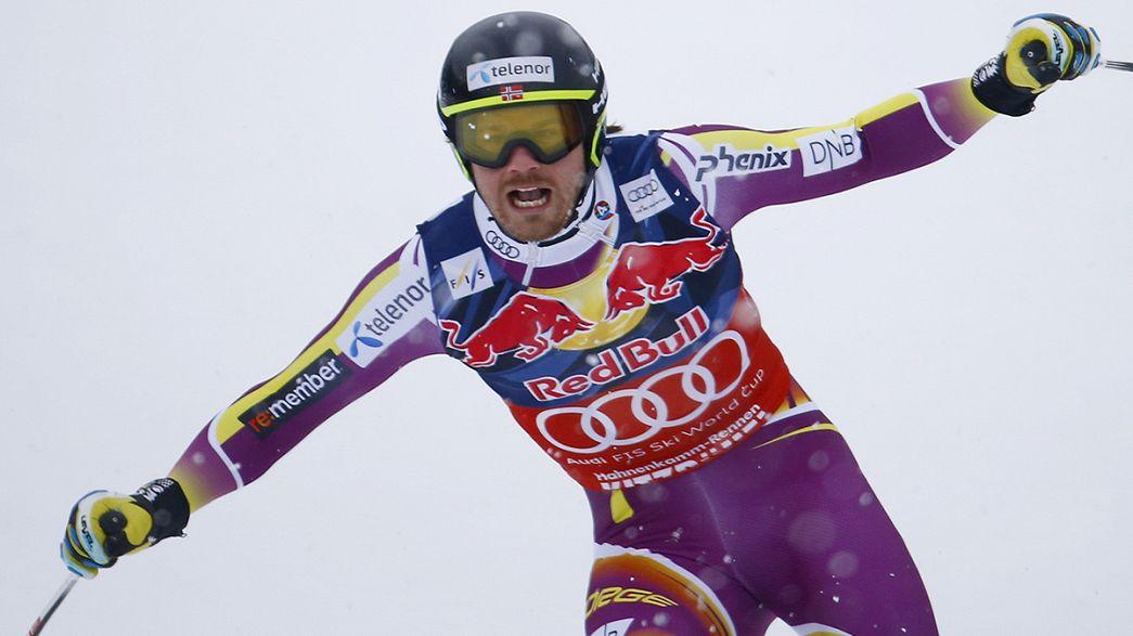 Jansrud vence em Kitzbühel e aproxima-se de Hirscher na Taça do Mundo de esqui alpino