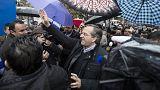 Andonis Samarás, el primer líder en votar en las decisivas elecciones griegas