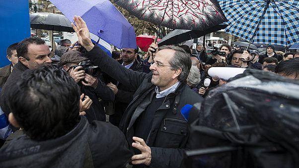 آنتوني ساماراس يُدلي بصوته في الانتخابات التشريعية اليونانية