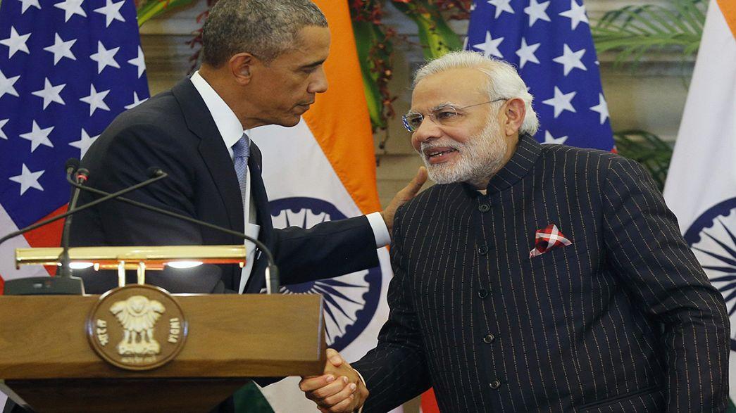Índia: Obama e Modi discutem programa nuclear inspirados por Gandhi