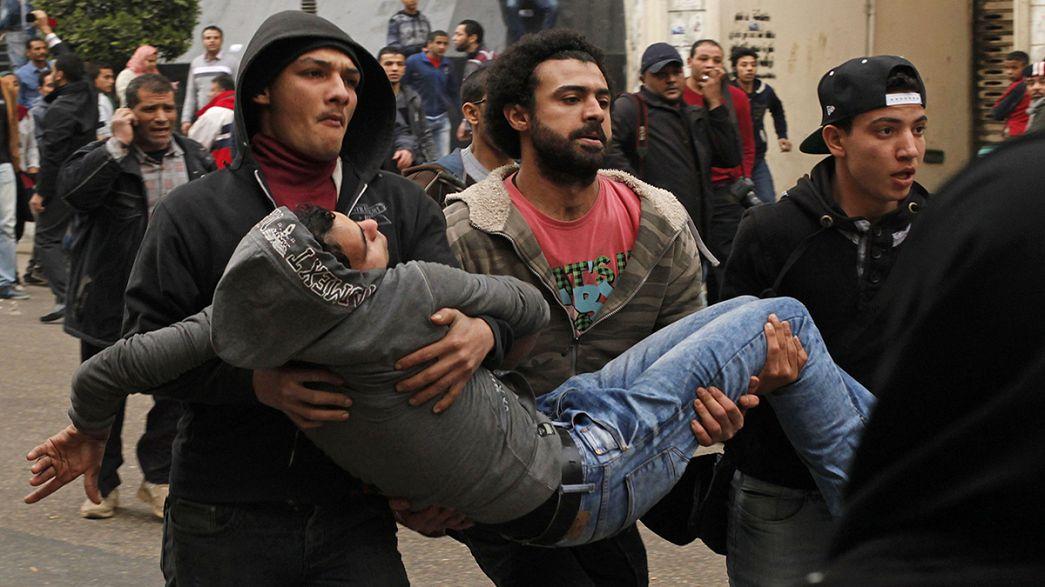 Egito: Manifestações mortíferas marcam aniversário da revolução