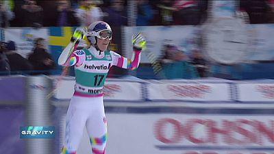 Vonn amplía su récord ganando el supergigante de St. Moritz