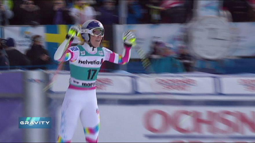 Gravity: a St Moritz nuovo record per Lindsey Vonn