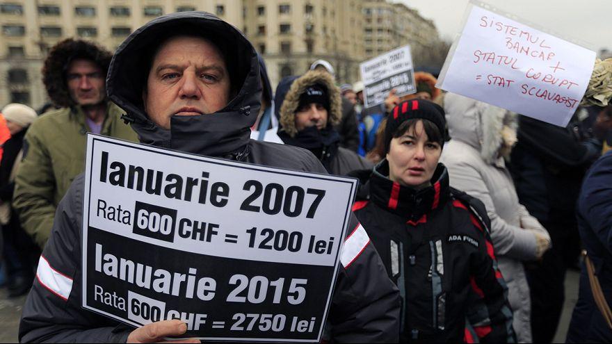 Protestas en Rumania por el aumento de las tasas de los bancos suizos con créditos de los ciudadanos