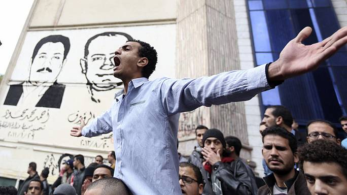 Violent protests mark Egyptian uprising anniversary