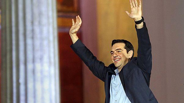 Grecia celebra la victoria de Syriza
