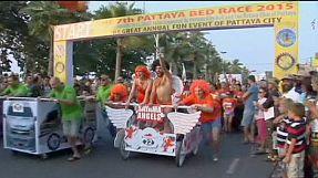 Tailândia: corrida de camas em Pattaya