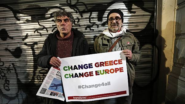Greeks react with delight and trepidation to Syriza election win