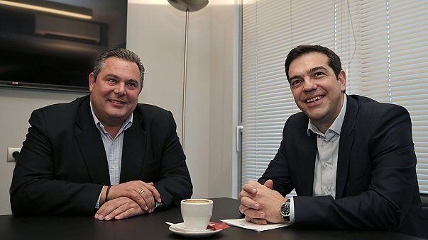 """إتفاق بين سيريزا و""""اليونانيون المستقلون """"لتشكيل حكومة إئتلاف"""