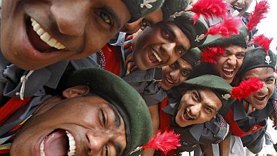 Indian cadets celebrate marching trophy win