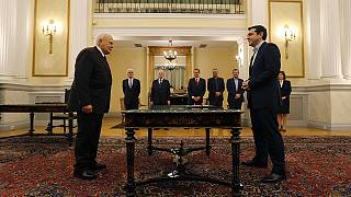 Alexis Tsipras als neuer Ministerpräsident Griechenlands vereidigt