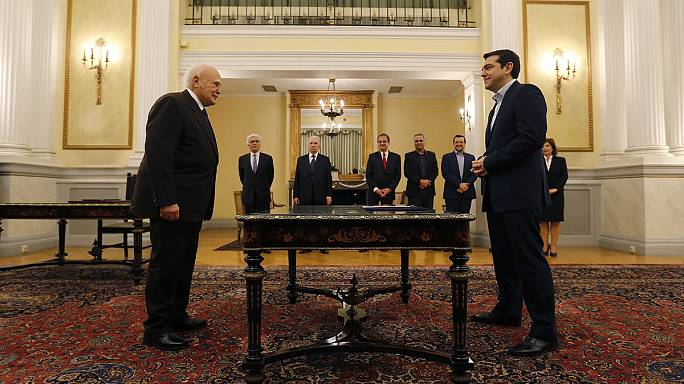 A new era for Greece: Alexis Tsipras is sworn in as prime minister