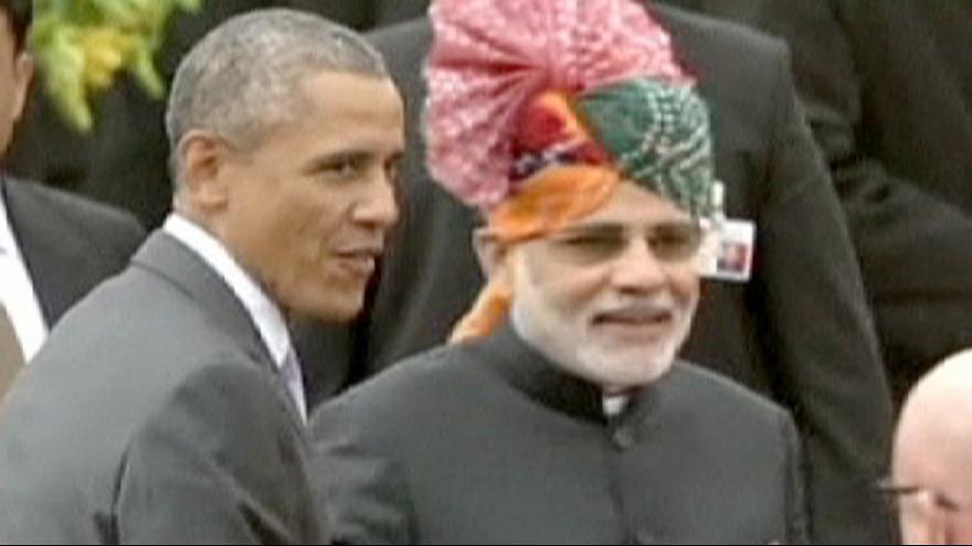 US President Obama takes part in India's annual Republic Day festivities