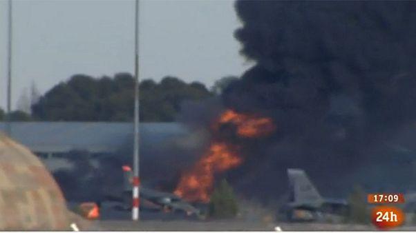 Δέκα νεκροί και δεκάδες τραυματίες από τη συντριβή ελληνικού F-16 στην Ισπανία