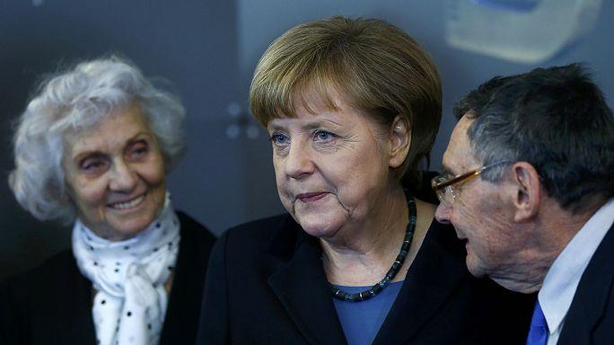 Megható beszédet mondott Angela Merkel Auschwitz felszabadításának 70. évfordulóján