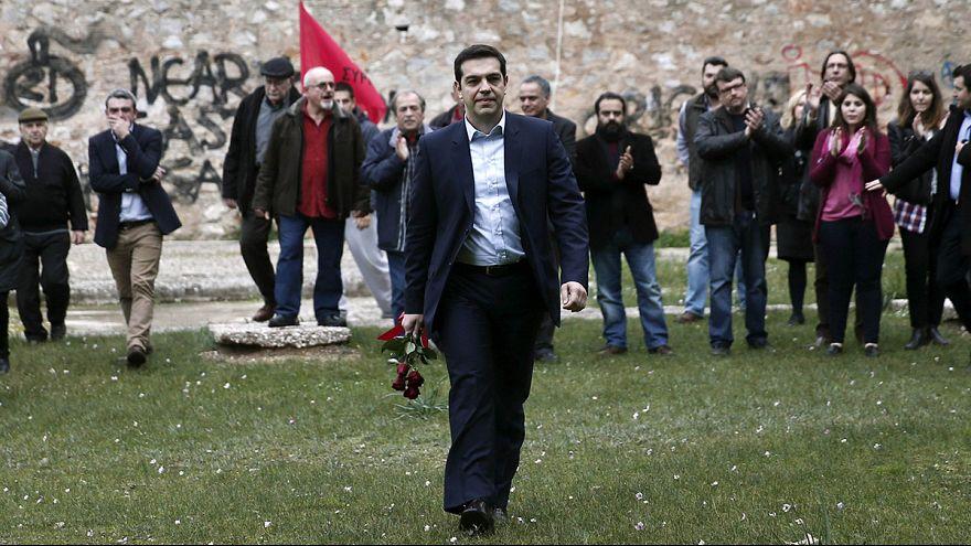 Ципрас первым делом почтил память партизан