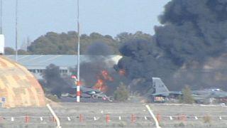 سقوط یک جنگنده در پایگاه ناتو در اسپانیا